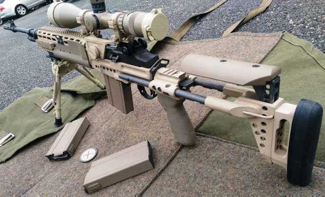 Sterling Arsenal- Cerakote Springfield M1A with EBR Stock